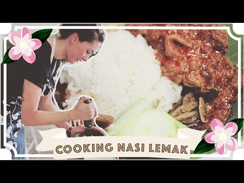 Nasi Lemak Cookery Challenge and Recipe // Jessie & Claud // Malaysia Travel Vlog [CC]