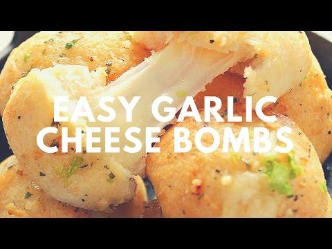 Easy Garlic Cheese Bombs Recipe | Crunchy Creamy Sweet