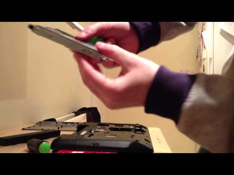 How to easily Install fit a SSD SanDisk harddrive into Lenovo laptop hard drive
