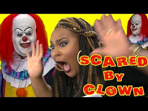 TV SHOW HOST SCARED BY CLOWN