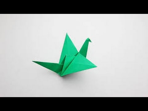 origami-how to make flaping bird