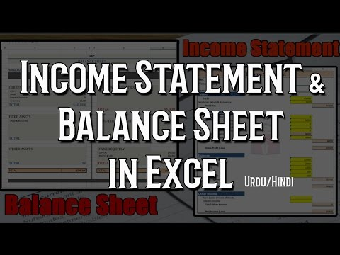 How to create income statement and balance sheet in excel AUTOMATIC 1/2 ||Urdu Hindi||