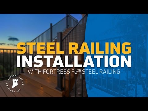 Fortress Fe26 Iron Railing Universal Bracket (04) LEVEL Installation