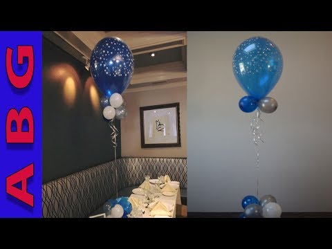 Starry night Double stuffed balloon decoration centerpiece tutorial   DIY Amazing Balloon Guy