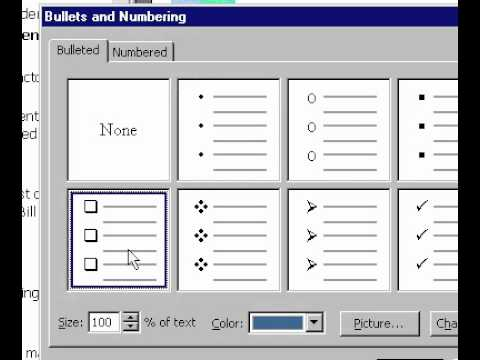 Microsoft Office PowerPoint 2000 Format bullets and numbers
