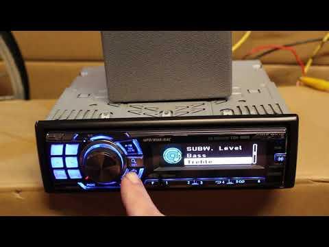 Alpine Deck Radio Head Unit Receiver CDA-9886 Used Decent Condition W Wiring