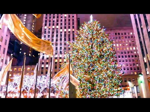 Holiday Time in New York City, Rockefeller Center Christmas Tree