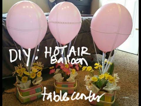 DIY: Hot Air Balloon Table Center