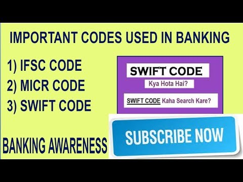 How to find Ifsc,micr,swift codes(Codes Used In Banking ( IFSC,MICR,SWIFT ) | Banking Awareness | )