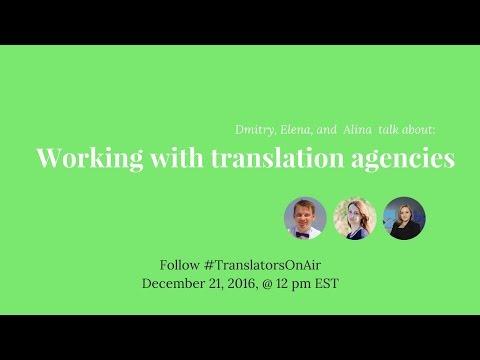 #TranslatorsOnAir Working with translation agencies feat  @AlinaCincan
