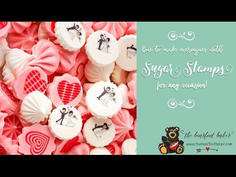 How to Make Meringues with Sugar Stamps | The Bearfoot Baker