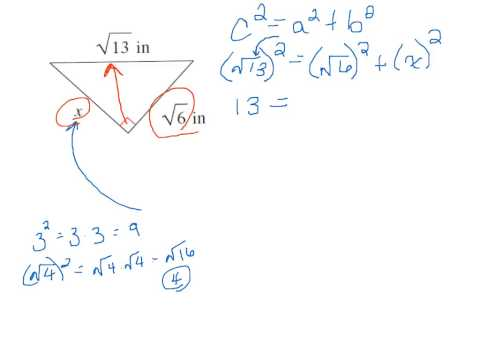 Pythagorean Theorem and Radicals