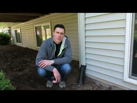 How to repair a downspout drain pipe