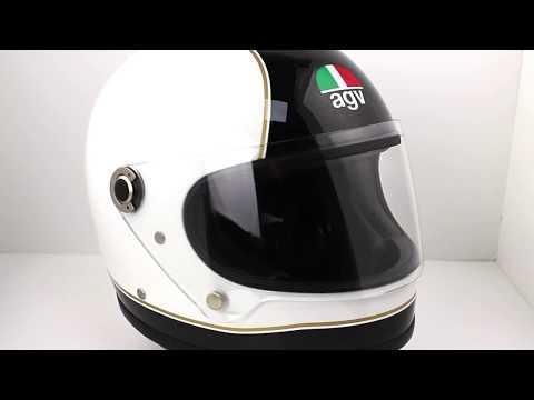 AGV Legends X3000 SUPER AGV Helmet Black White