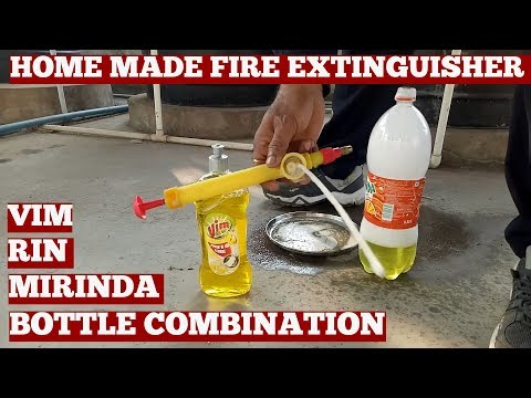 How To Make Fire Extinguisher At Home-Fire Extinguisher Made With Detergent Soap Solution