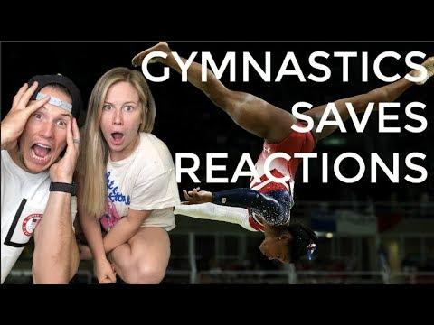 GYMNASTICS SAVES REACTIONS! | Shawn Johnson