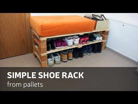 DIY: Simple Shoe Rack From Pallets