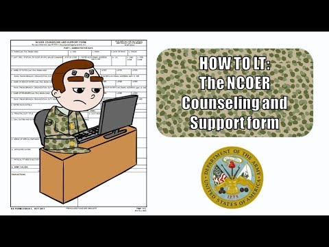 How to LT- The NCOER Counseling and Support Form