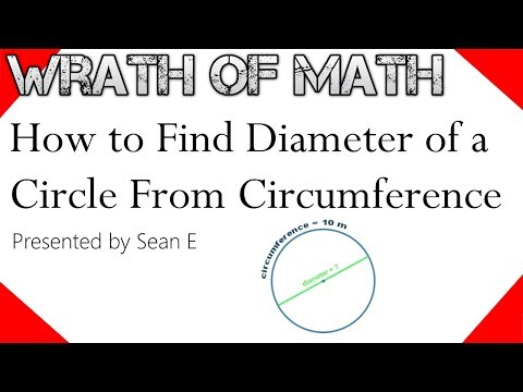 How to Find the Diameter of a Circle from Circumference