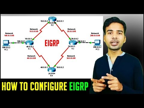 How to configure EIGRP in Packet Tracer | Routing Part 5 | CISCO CCNA Training 2018