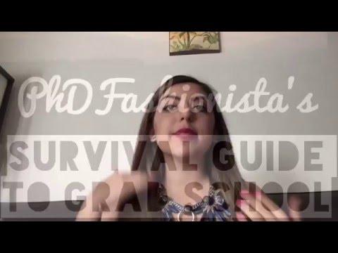 PhD Fashionista's Survival Guide to Grad School - Intro