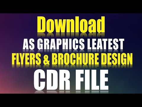 Coreldraw x7 Tutorial Download AS GRAPHICS Leatest Flyers Design CDR File