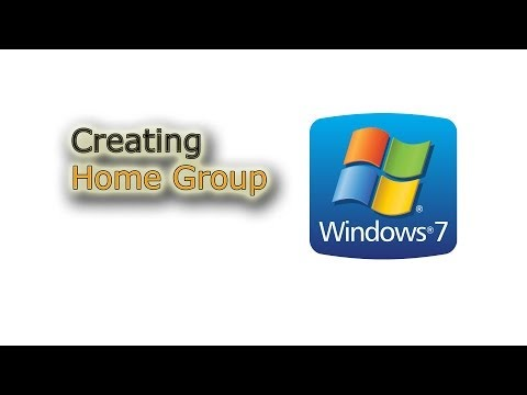 Creating a Home Group (home network) in Windows 7