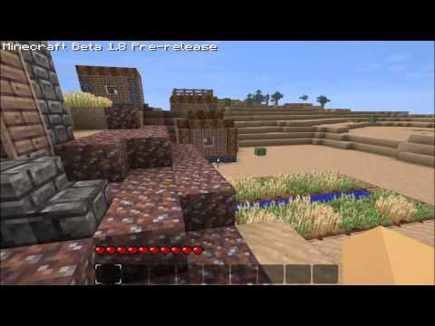 Minecraft 1.8: NPC Village tour