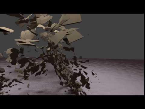 Breaking Wood 2 Blender 3D Animation