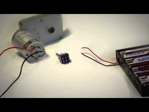 How to use a switch to drive a DC motor forwards and backwards