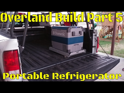 Overland Camping Vehicle Build! Part 5: Dometic Portable Refrigerator Install