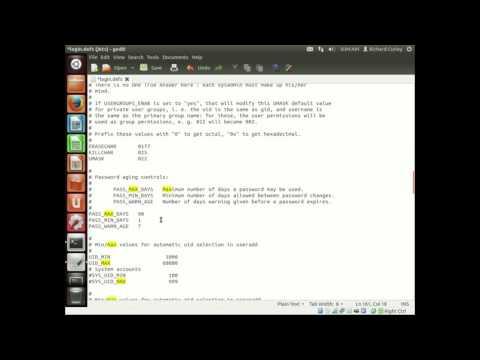 Ubuntu Changing Password Settings
