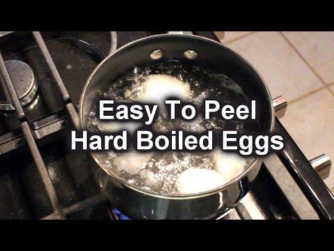 EASY PEEL TIP - HARD BOILED EGGS