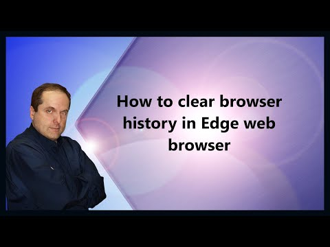 How to clear browser history in Edge web browser