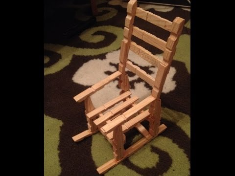 wooden mini chair from wooden clots clips