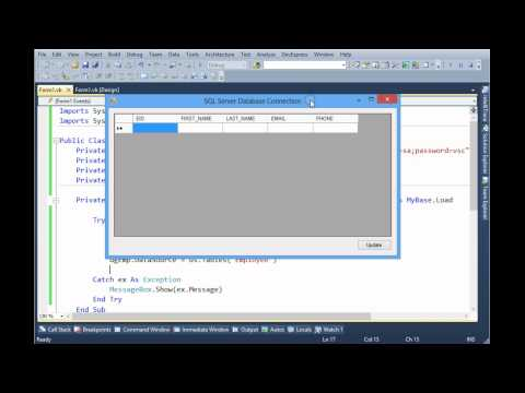 How to Connect to SQL Server Using ADO.Net and VB.Net