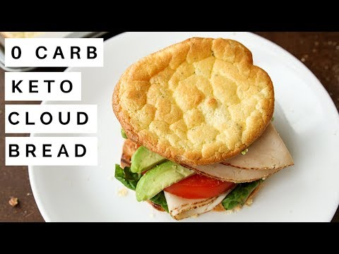 NO CARB Cloud Bread Recipe | How To Make Cloud Bread For Keto and Low Carb Diets