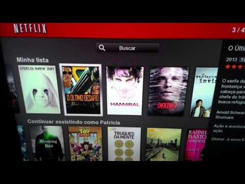 Smart TV samsung não atualiza o netflix