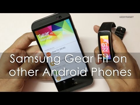 Making Samsung Gear Fit work with non Samsung Android Phones