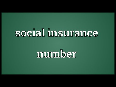 Social insurance number Meaning