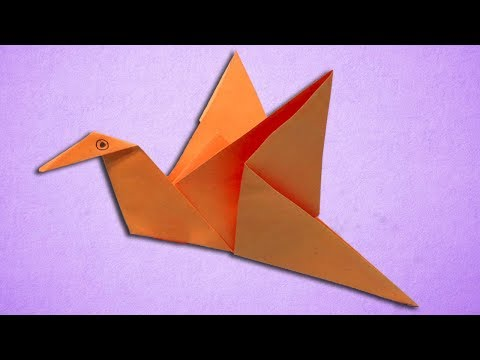 Paper Flapping Bird Making Easy Step by Step - Origami Birds For Kids