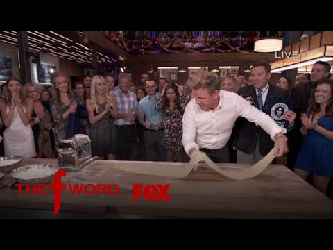 Gordon Ramsay Attempts To Set A World Record For Pasta Rolling   Season 1 Ep. 11   THE F WORD