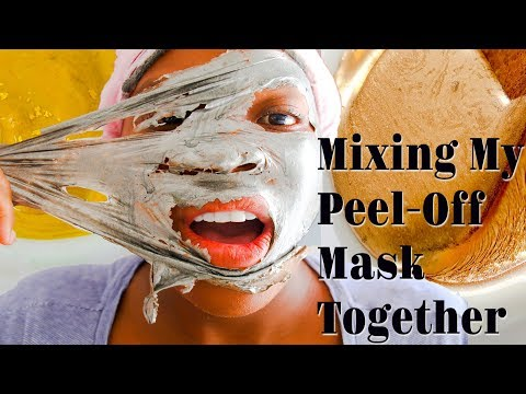 Mixing All My PEEL OFF FACE MASK TOGETHER! Mixing My Face Mask Together