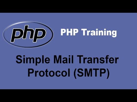 Using PHP to Send E-mail Using Simple Mail Transfer Protocol/SMTP - PHP Training Tutorial