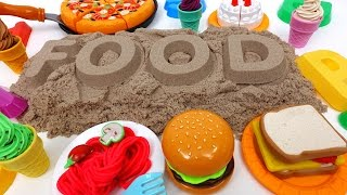Learn Names of Food with Kinetic Sand~ What is Your Favorite Food?