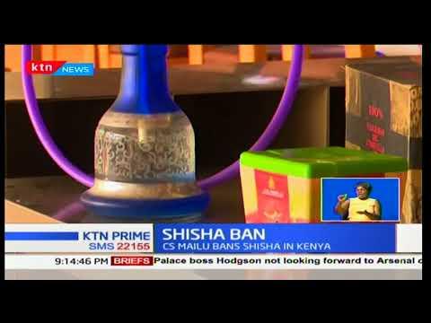 Health CS Cleopas Mailu bans the sale, use and distribution of Shisha in Kenya