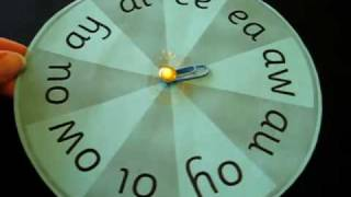 Grade 1 - Reading, Phonics, Spelling activity: Special sounds spin wheel game.