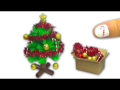 How to make a doll Christmas Tree and Christmas decorations DIY Tutorial - YolandaMeow♡