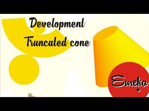 Drawing tutorial │Development of a truncated cone