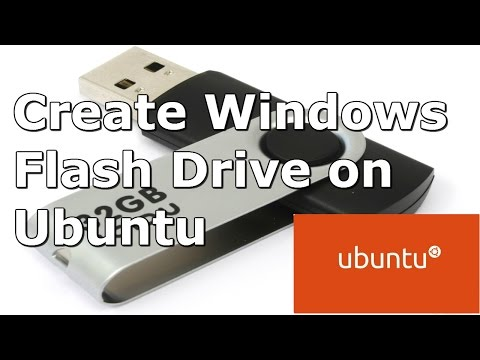How to Create Windows 8 Bootable USB Flash Drive on Ubuntu 14.04